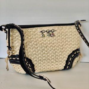 Brighton Bag Jute Straw Leather Fun Charm Designer